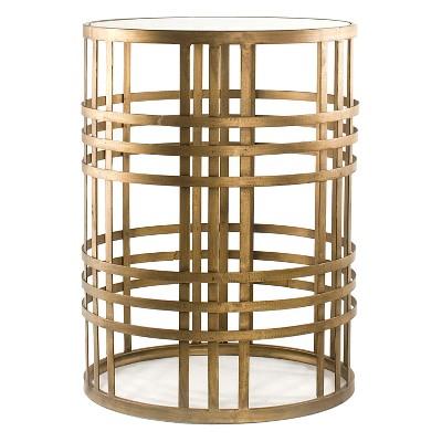 Woven Brass Side Table Brass - FirsTime