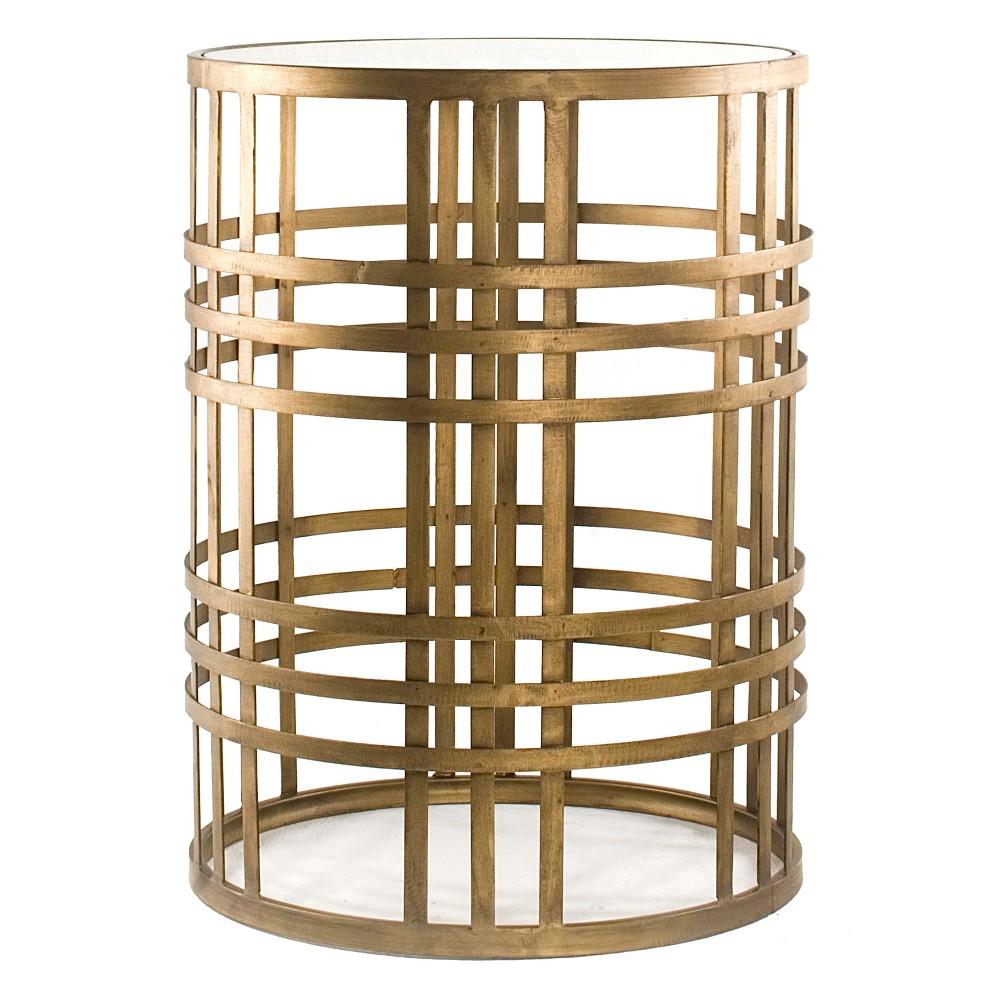 Woven Brass Side Table Brass - FirsTime, Bronze Cloud