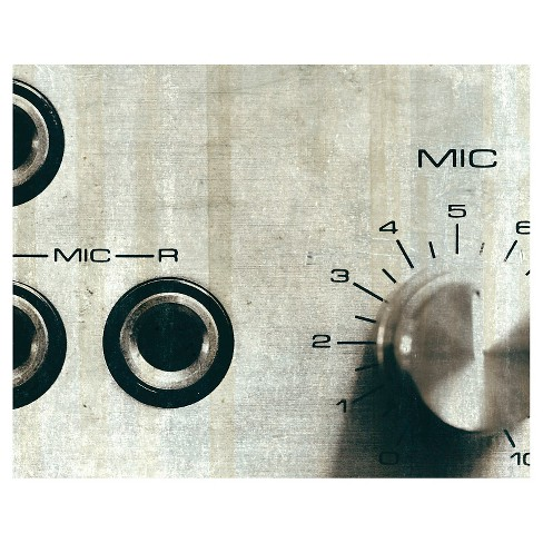 Sound Check Mic Unframed Wall Canvas Art - (24X30) - image 1 of 1