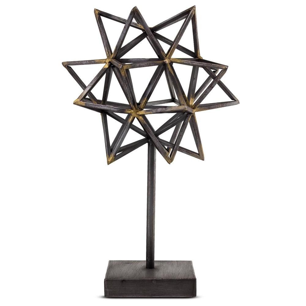 Image of Decorative Metal Star Figurine - Brown