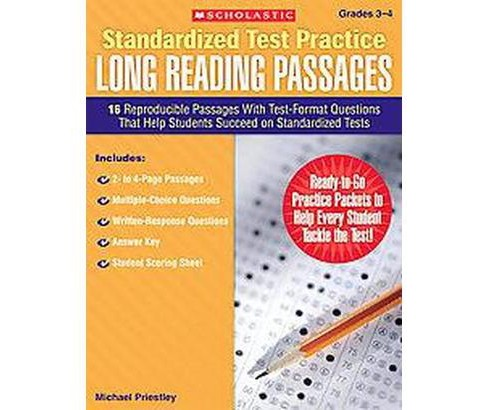 Standardized Test Practice Long Reading Passages, Grades 3-4 : 16 Reproducible Passages With Test-Format - image 1 of 1