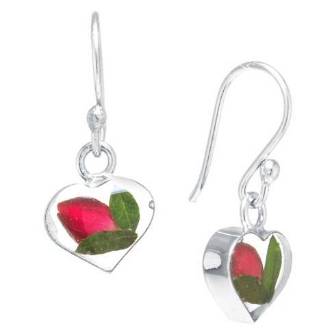 Fine Jewelry Earring Sterling Red - image 1 of 1