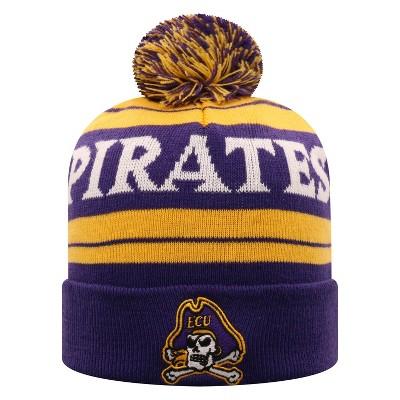 NCAA East Carolina Pirates Men's Knit Cuffed Beanie with Pom