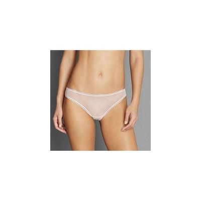 OnGossamer Women's Solid Mesh Hip Bikini