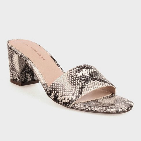 Women's Jacey Faux Leather Pumps - Who What Wear™ Gray - image 1 of 3