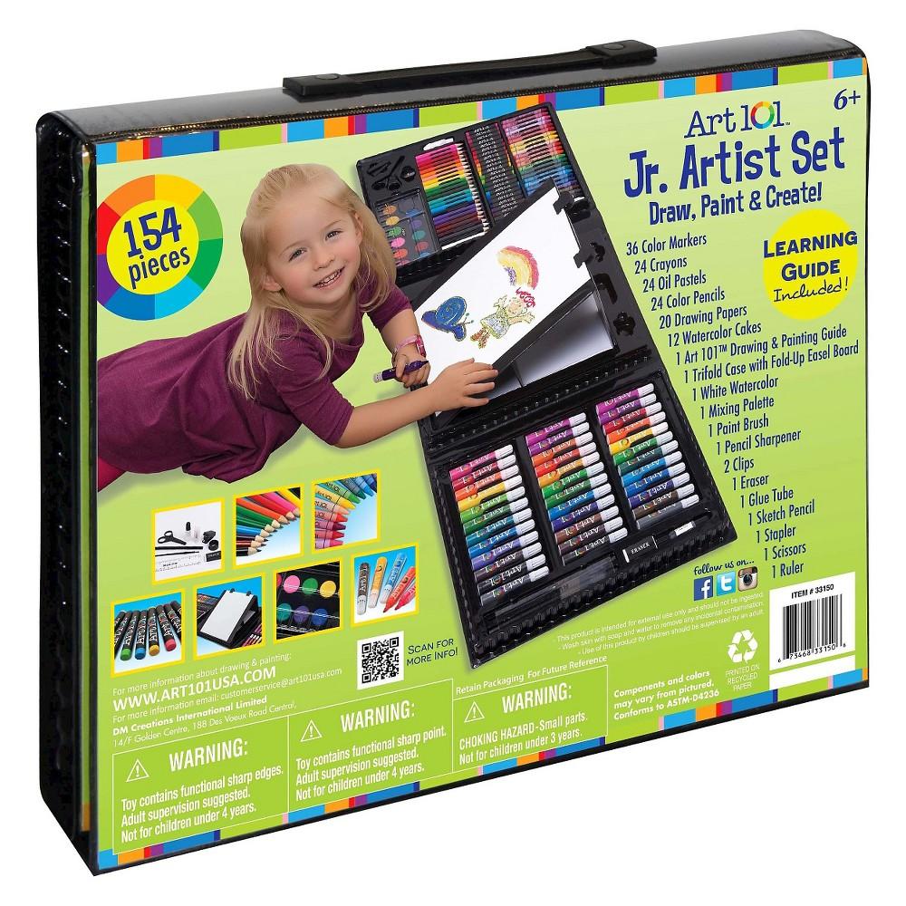 Kid's Tri-fold Art Set 154pc Art 101