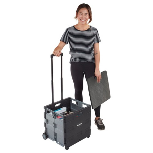 ECR4Kids Universal Rolling Cart with Lid - Folding Mobile Organizer for Teachers - image 1 of 4