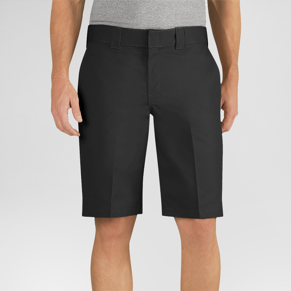 Dickies Men's Relaxed Fit Flex Twill 11 Shorts- Black 38