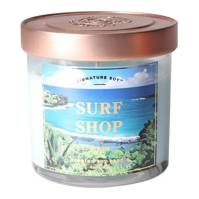 Small Glass Jar Candle Surf Shop 4.1oz - Signature Soy