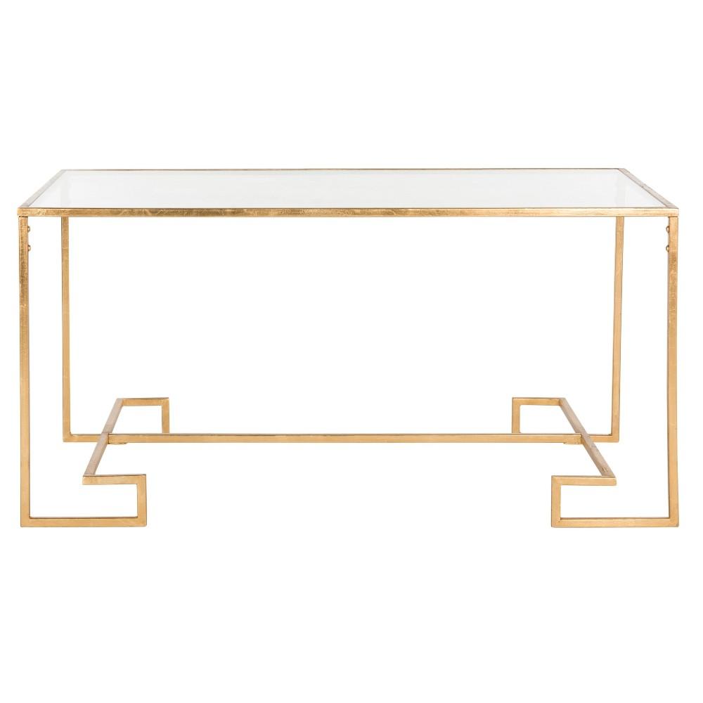 Burton Coffee Table - Gold & Clear - Safavieh, Antique Gold