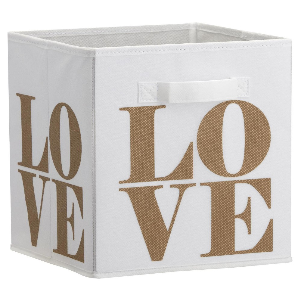 Image of Love Print Bin, Gold - Little Seeds
