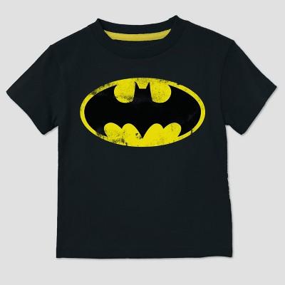 Toddler Boys' DC Comics Batman Short Sleeve T-Shirt - Black 2T
