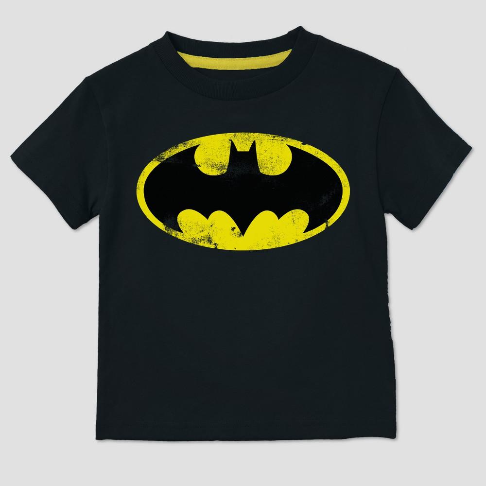 Image of petiteToddler Boys' DC Comics Batman Short Sleeve T-Shirt - Black 12 Months, Boy's, Size: 12M