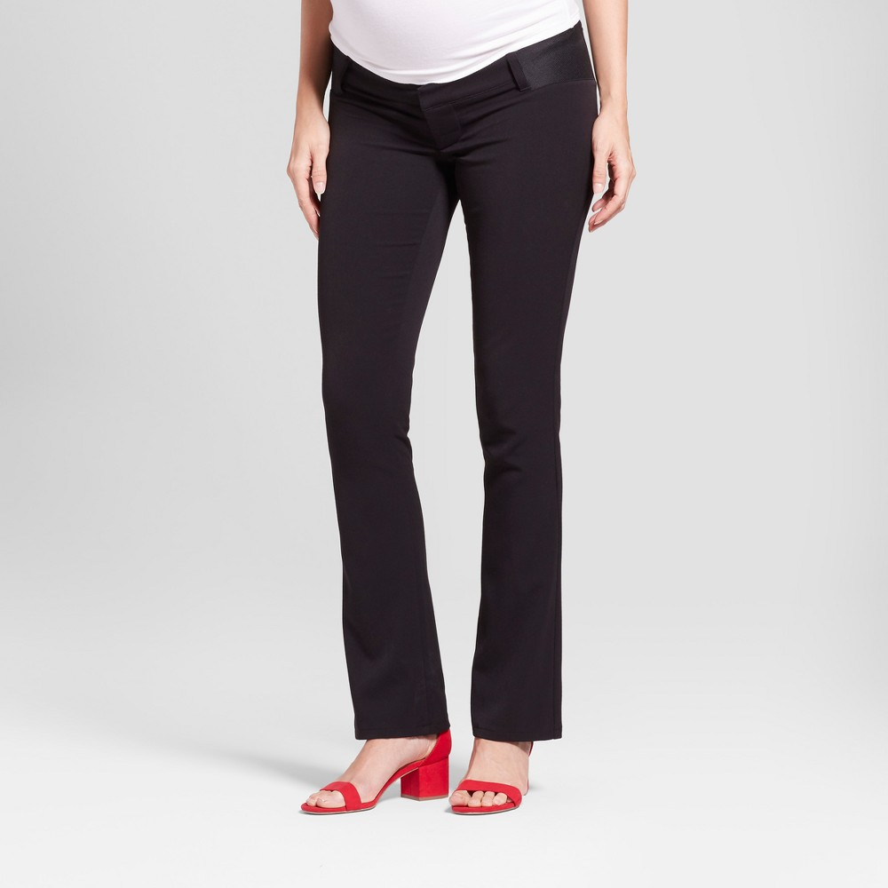 Maternity Inset Panel Bootcut Trouser - Isabel Maternity by Ingrid & Isabel Black 2, Women's