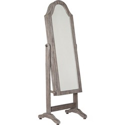 Bell Shape Standing Mirror with Storage Gray - Hives & Honey