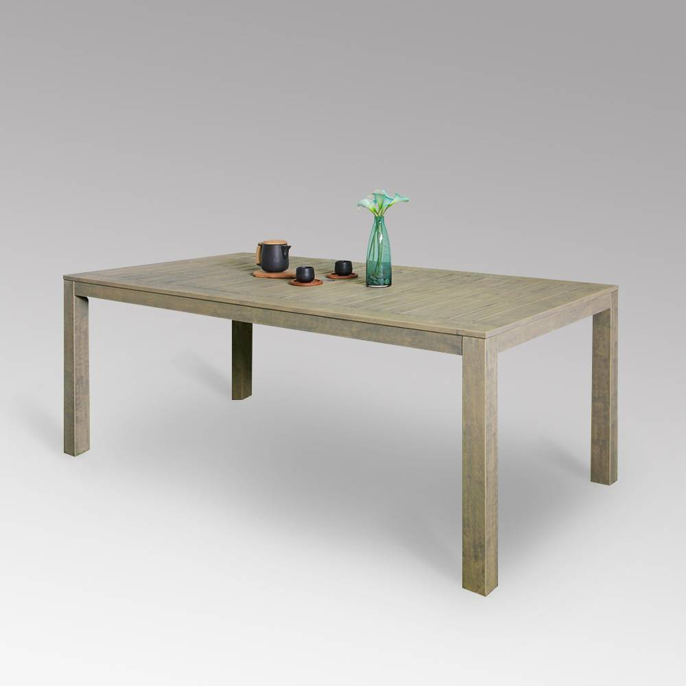 Westlake Wood Outdoor Patio Dining Table - Weathered Gray - Cambridge Casual