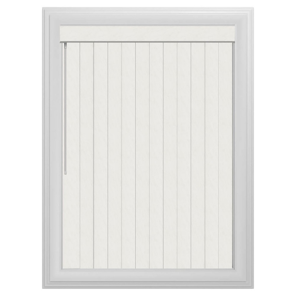 Vertical Crown Slotted Window Blind Pearl White 66