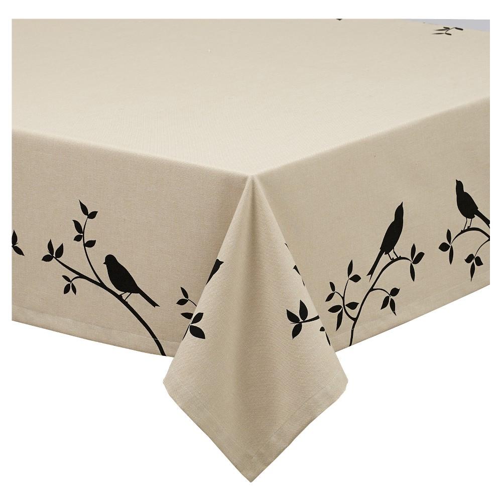 Bird Burlap Printed Tablecloth (52