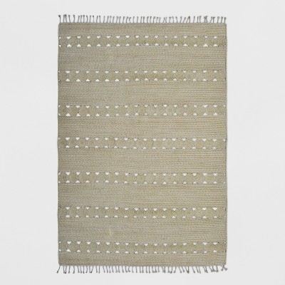 7' x 10' Braided Rectangle Tassels Outdoor Rug Natural - Opalhouse™