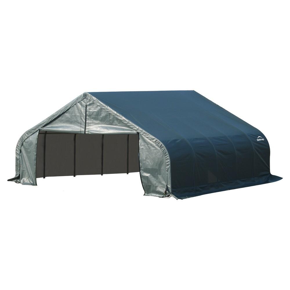 18' X 28' X 11' Peak Style Shelter- Green - Shelterlogic