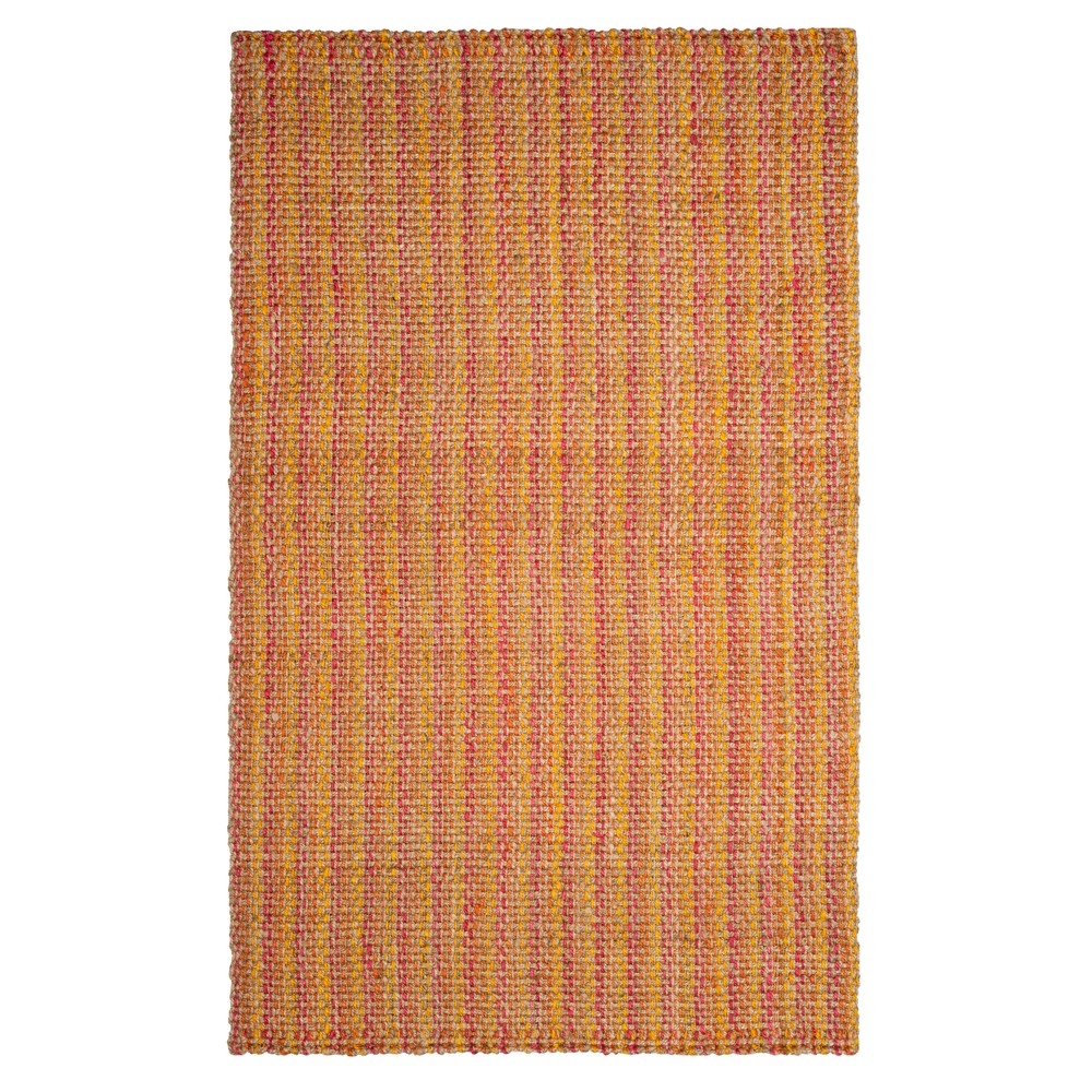 Pink Basket Weave Woven Area Rug 8'X10' - Safavieh, Pinknmulti-Colored