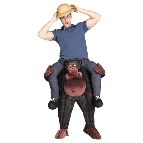cee4f3aa6 Men's Gorilla Riding On Shoulder Adult Costume One Size : Target