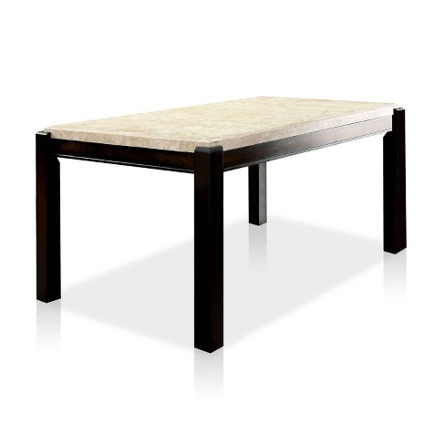 Lanbert Marble Table Top Dining Table Dark Walnut Homes Inside Out Target