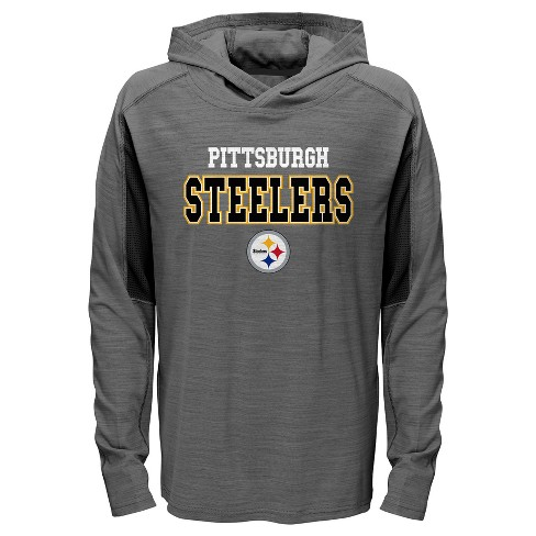 033415f65 NFL Pittsburgh Steelers Boys  Sideline Speed Gray Lightweight Hoodie ...