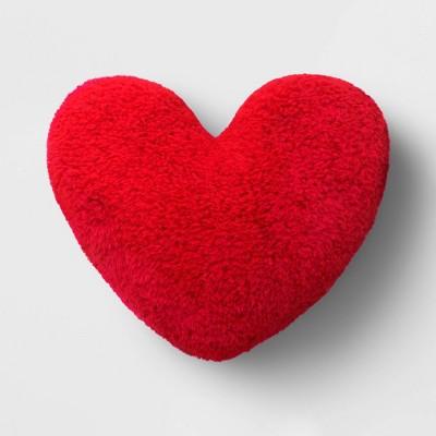 Sherpa Valentine's Day Heart Pillow - Spritz™
