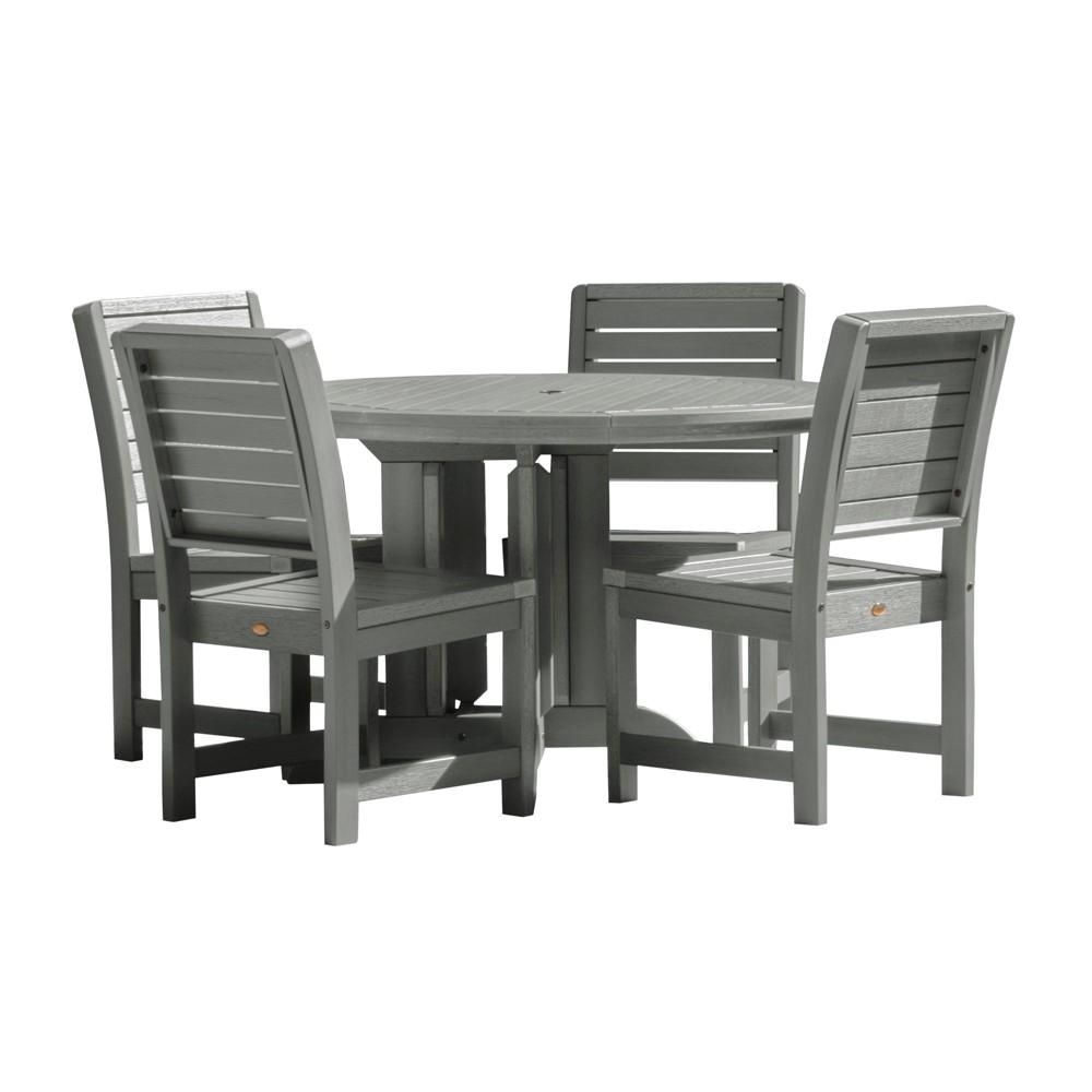 Weatherly 5pc Round Dining Set Coastal Teak Gray- Highwood, Coastal Teak Gray
