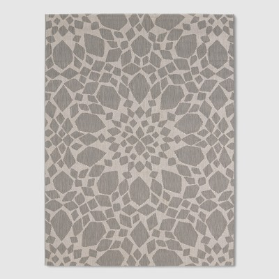 6' x 9' Medallion Outdoor Rug Gray - Threshold™