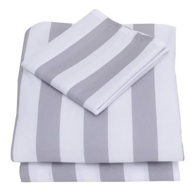 Nojo 3pc Toddler Sheet Set Gray/White
