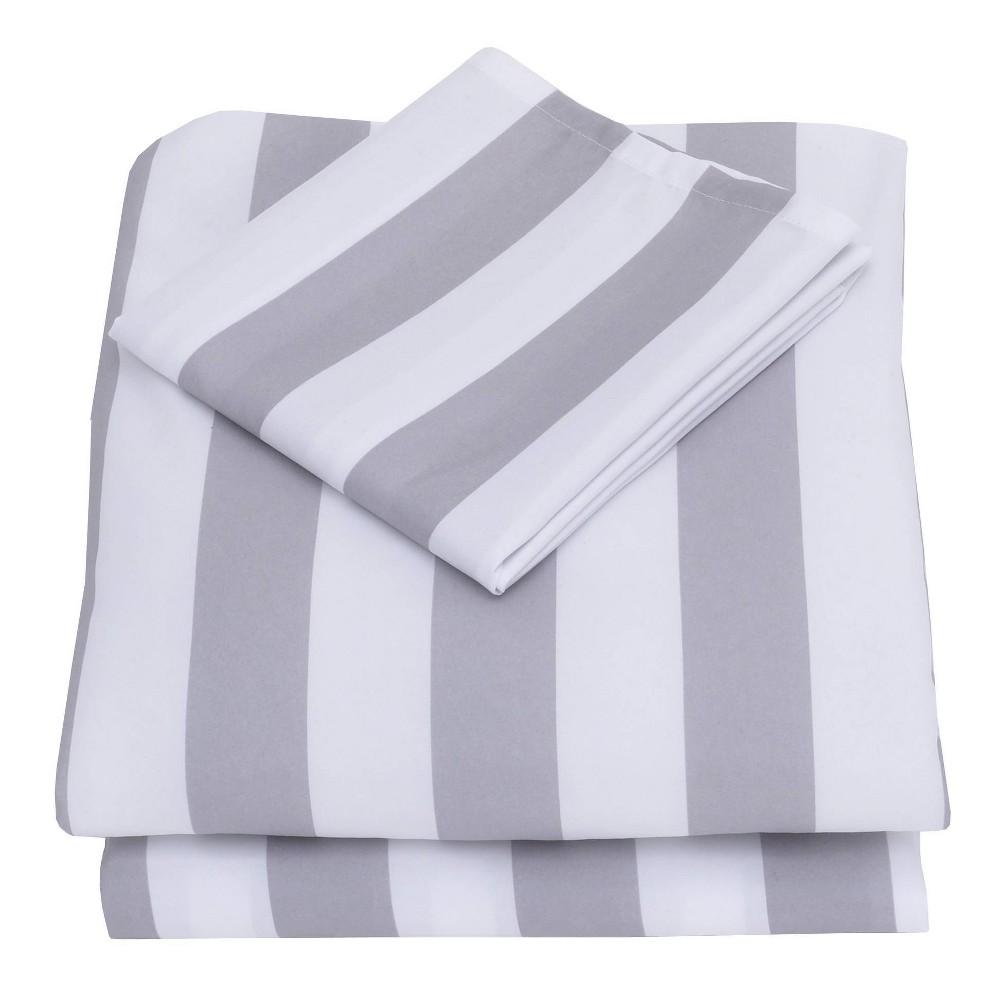 Image of Nojo 3pc Toddler Sheet Set Gray/White