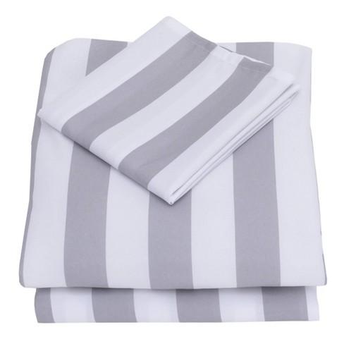 Nojo 3pc Toddler Sheet Set Gray/White - image 1 of 3