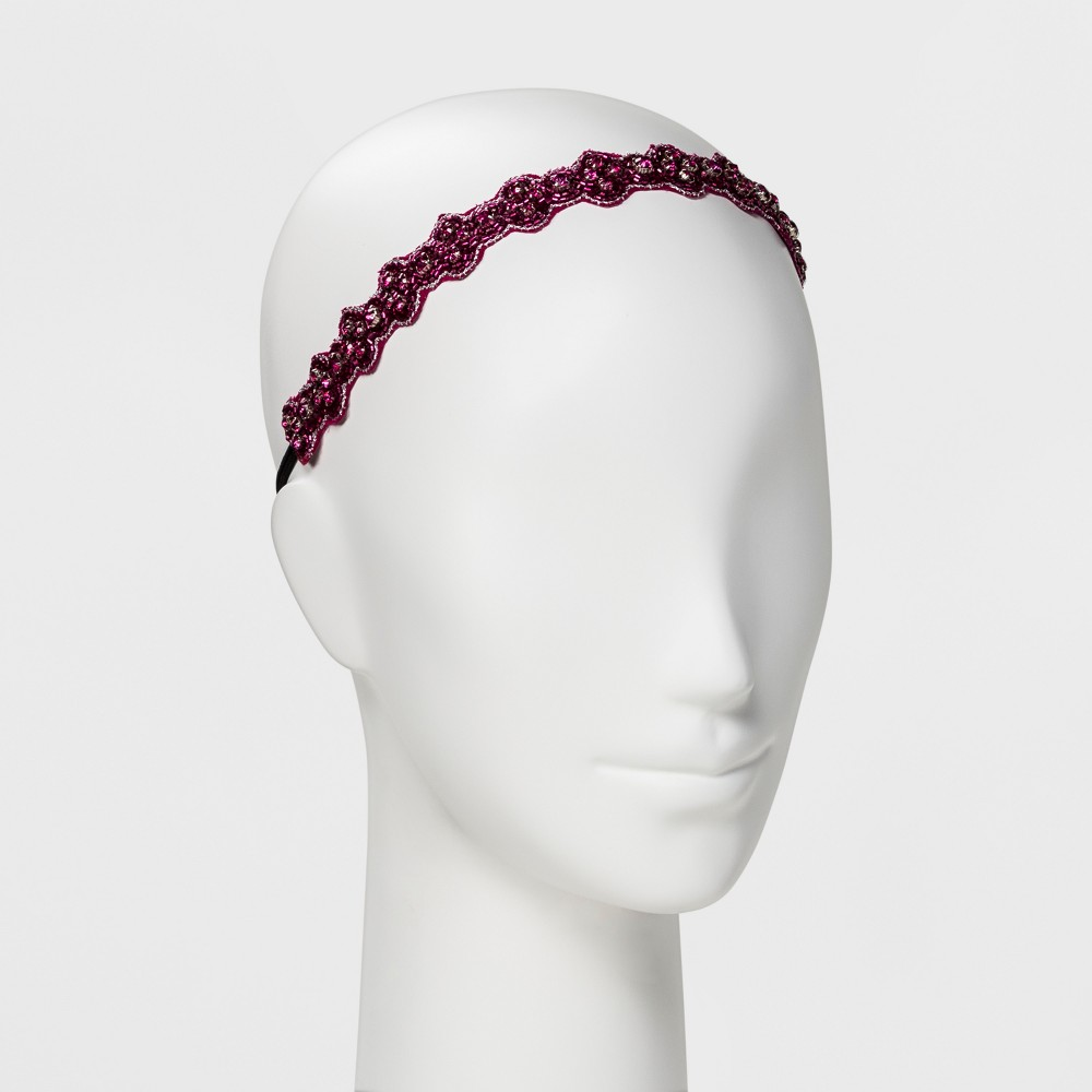 Image of Pink Pewter Headband - Pink