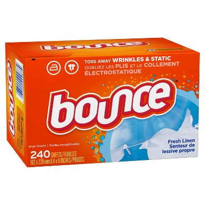 Bounce Fresh Linen Fabric Softener Dryer Sheets - 240ct