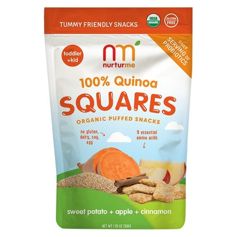 NurturMe Quinoa Squares, Sweet Potato + Apple + Cinnamon - 1.76oz - image 1 of 1