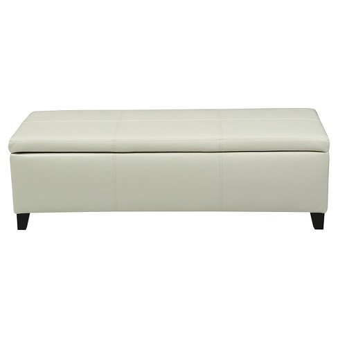 Lucinda Faux Leather Storage Ottoman Bench - Christopher Knight Home - image 1 of 4