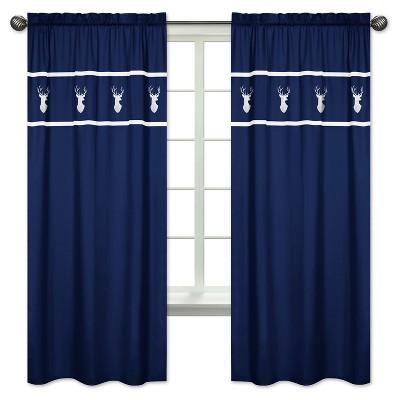 Sweet Jojo Designs Window Panels - Navy & Mint Woodsy - 2pk