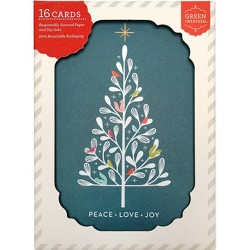 16ct Critter Tree Holiday Boxed Greeting Cards