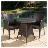 Brayden 3pc Wicker Patio Bistro Set - Brown - Christopher Knight Home - image 3 of 4