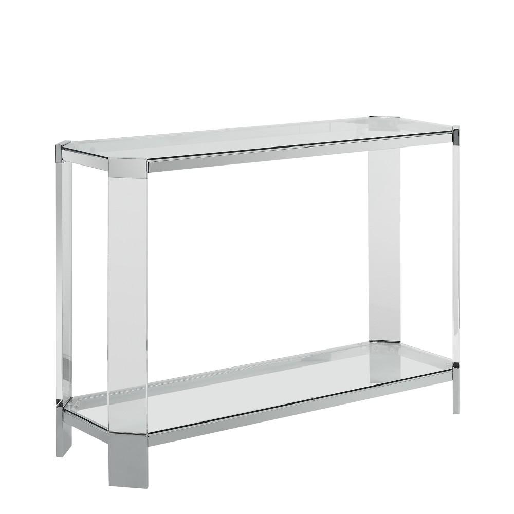Troy Console Table Acrylic/Glass - Powell Company