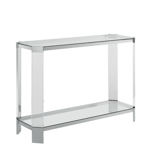 Outstanding Troy Console Table Acrylic Glass Powell Company Spiritservingveterans Wood Chair Design Ideas Spiritservingveteransorg