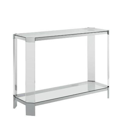 Troy Console Table Acrylic/Glass   Powell Company