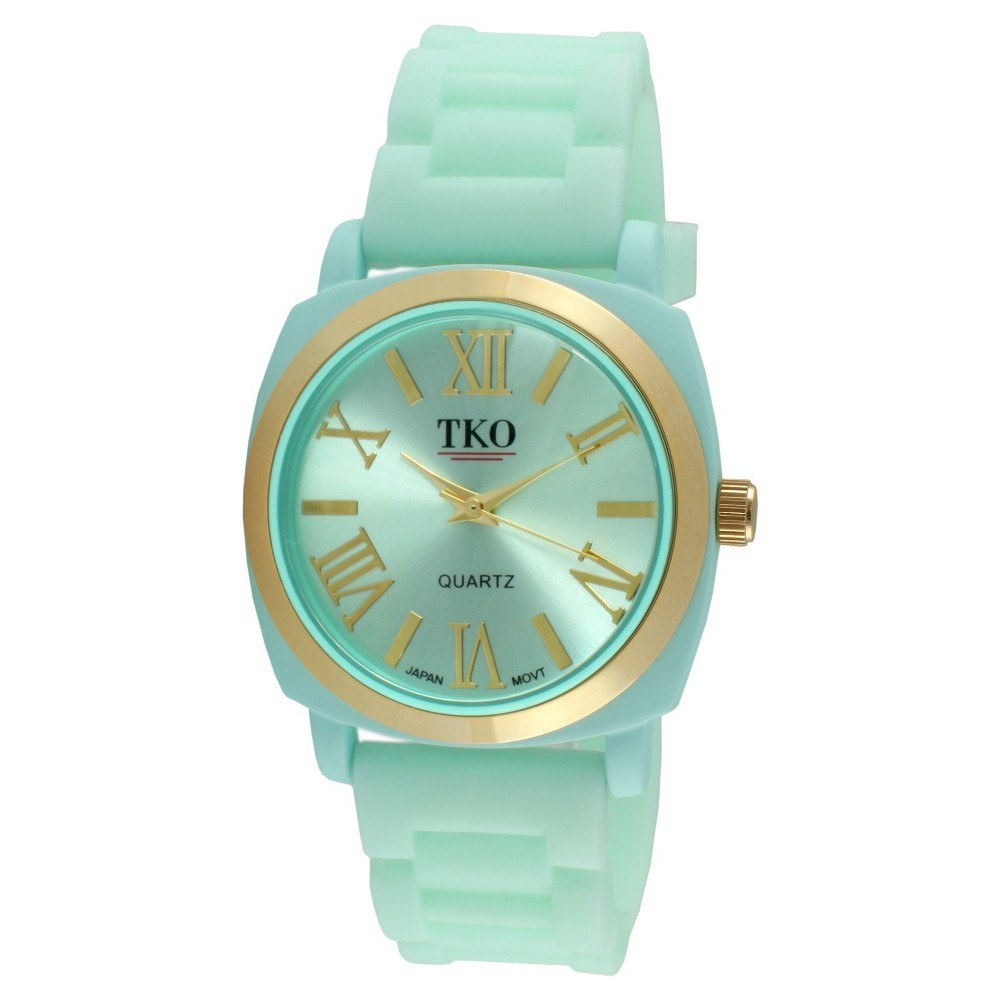 Reviews Womens TKO Rubber Strap Watch - Green