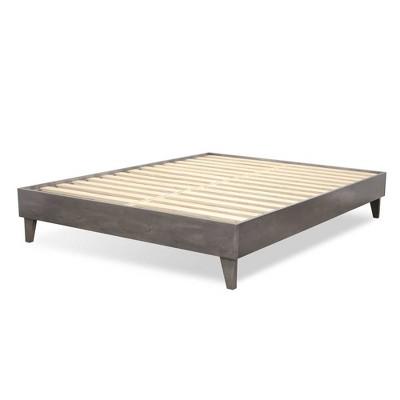 eLuxury American Pine Platform Bed Frame