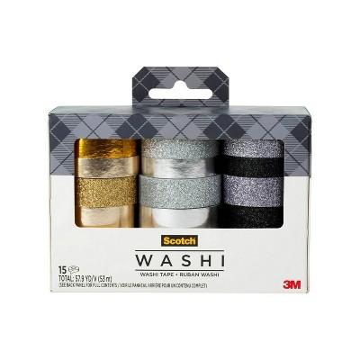 Scotch 15pk Washi Tape
