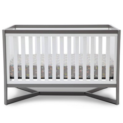 Delta Children Tribeca 4-in-1 Convertible Crib - White/Gray