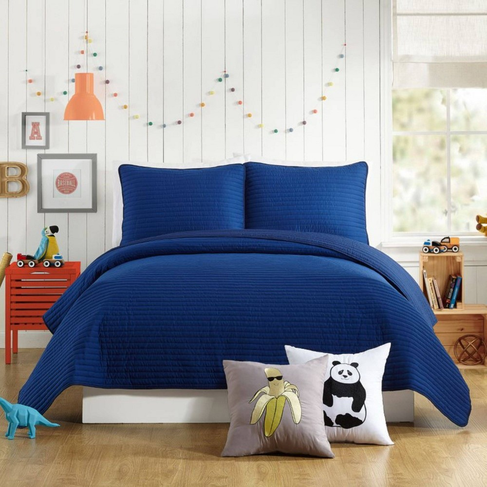 Image of 2Pc Twin Astor Quilt Set Blue - Urban Playground
