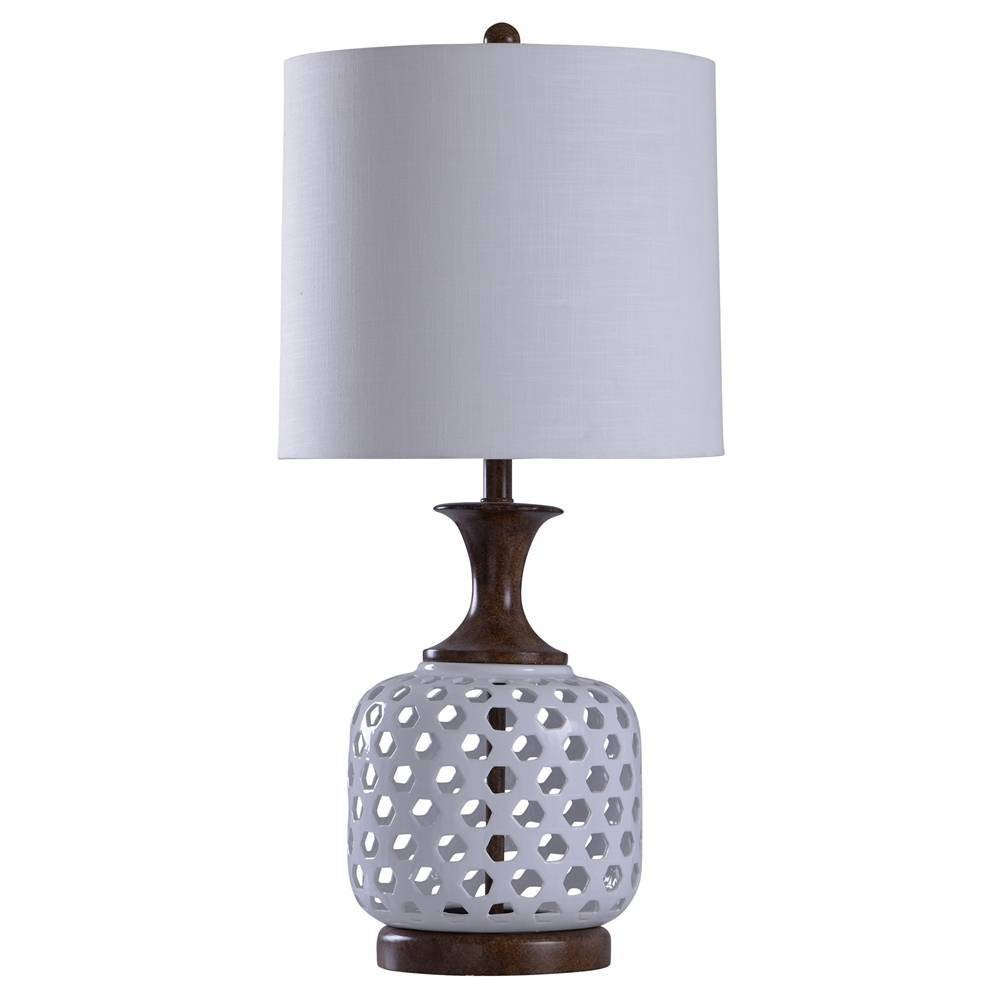 Chevelle Table Lamp Silver (Includes Light Bulb) - StyleCraft
